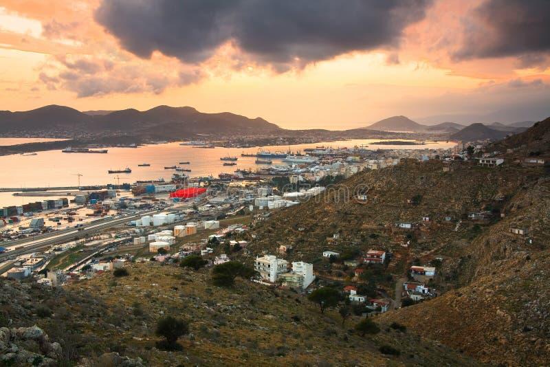 Astilleros en Perama, Pireo, Atenas imágenes de archivo libres de regalías