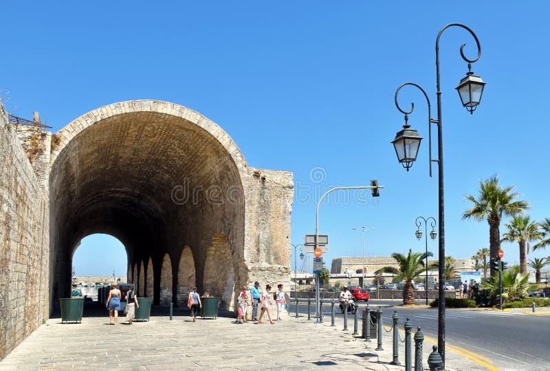 Astilleros venecianos anteriores en Heraklion en la isla de Creta fotos de archivo libres de regalías