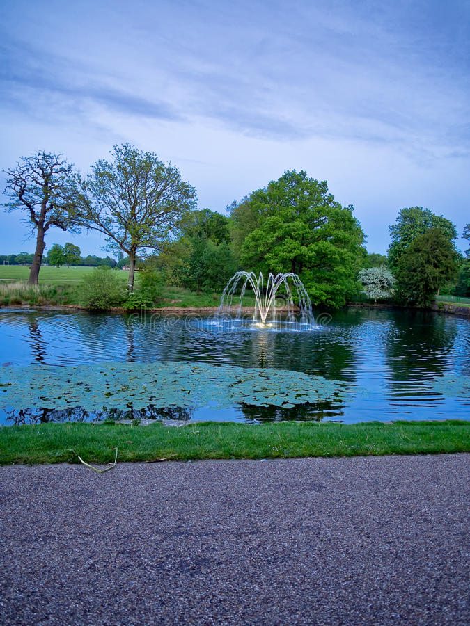 Download Astley Hall Fountain In Evening Ligh Stock Image - Image: 40867291