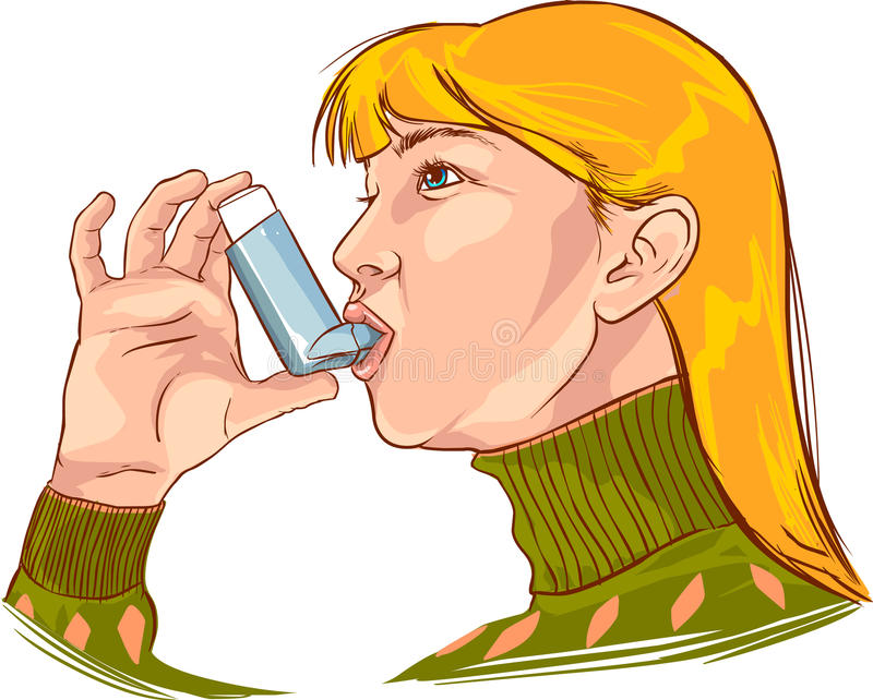Astma royalty ilustracja
