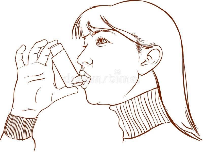 Astma ilustracja wektor