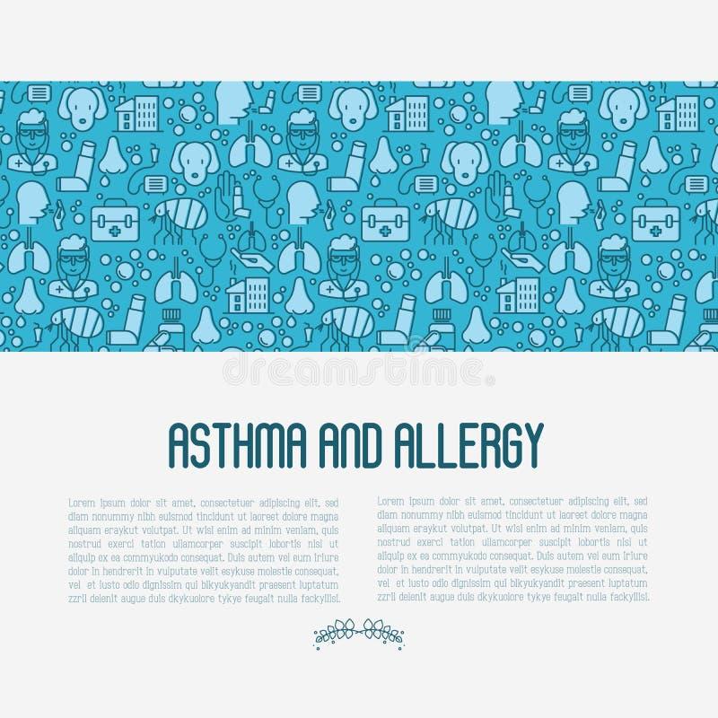 Astma en allergieconcept vector illustratie