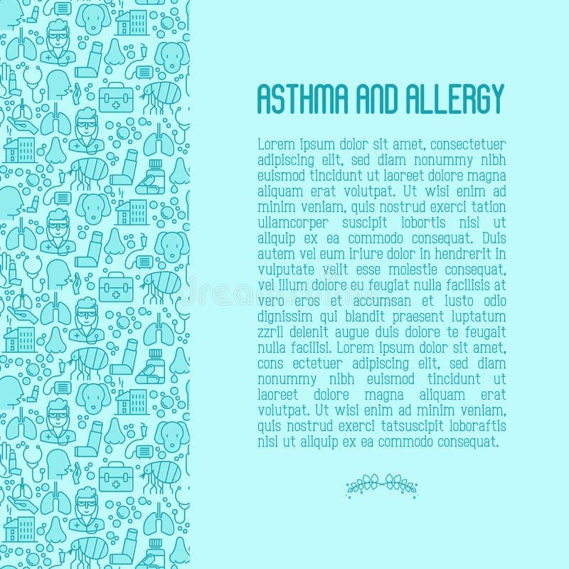Astma en allergieconcept royalty-vrije illustratie