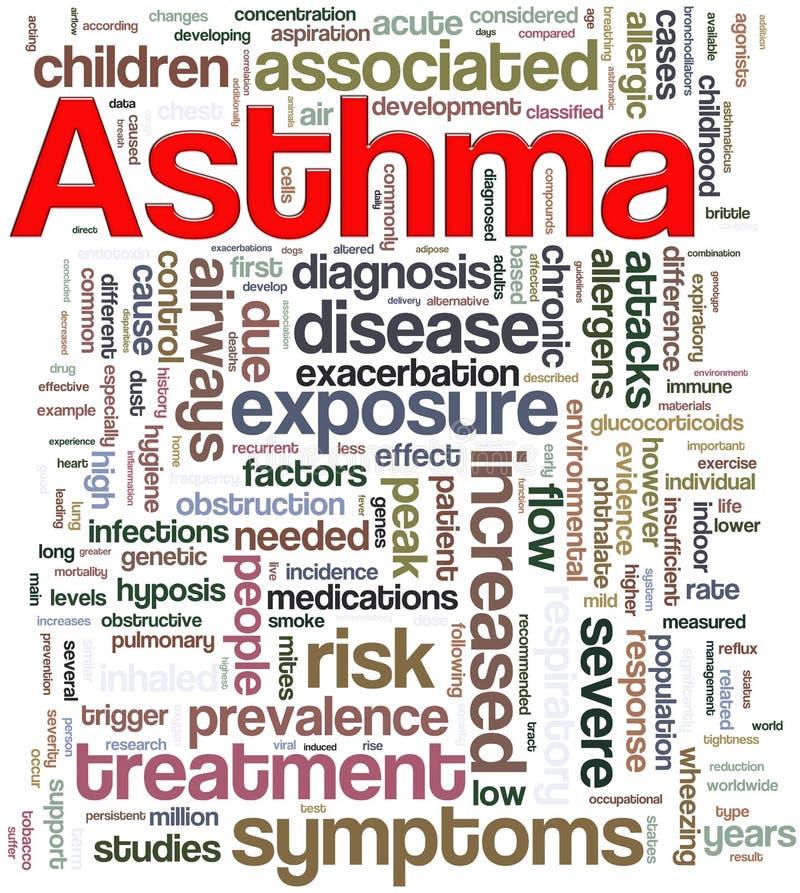 Astma wordcloud royalty-vrije illustratie