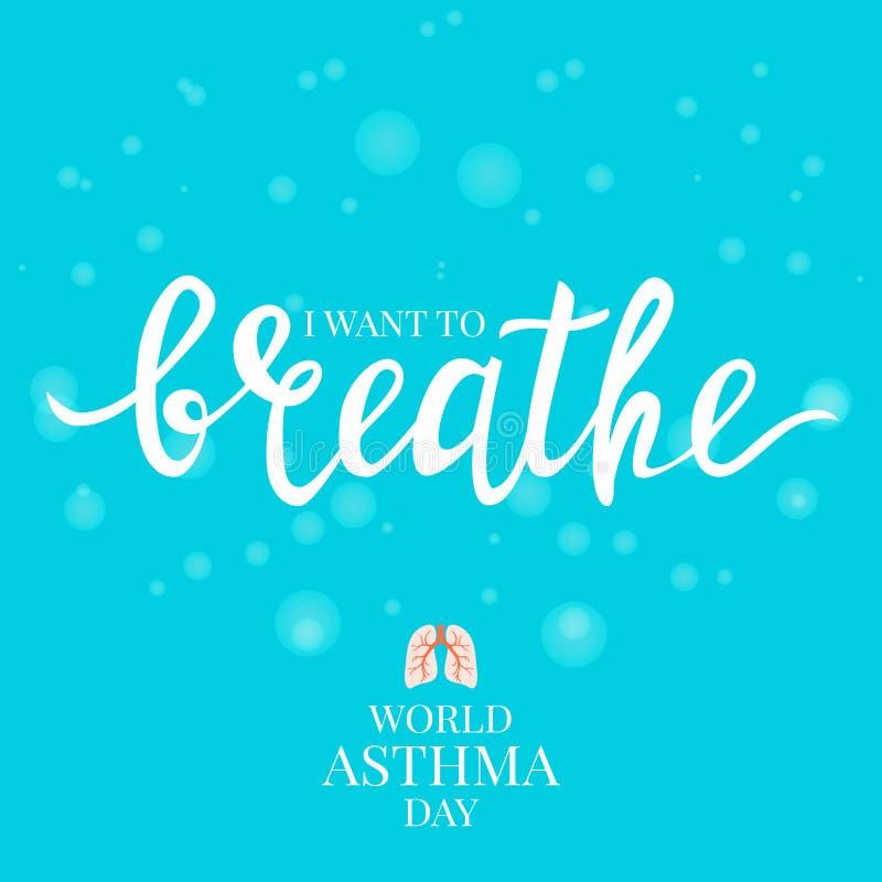 Astmaaffisch med ett citationstecken royaltyfri illustrationer