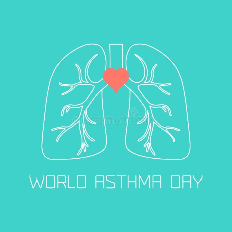 Astmadagaffisch royaltyfri illustrationer