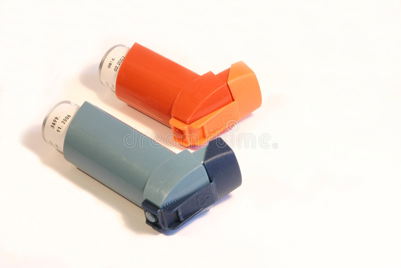 astmainhalers arkivfoto