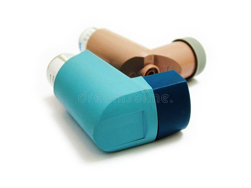 astmainhalers royaltyfria foton