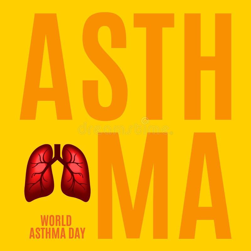 Astmamedvetenhetaffisch stock illustrationer