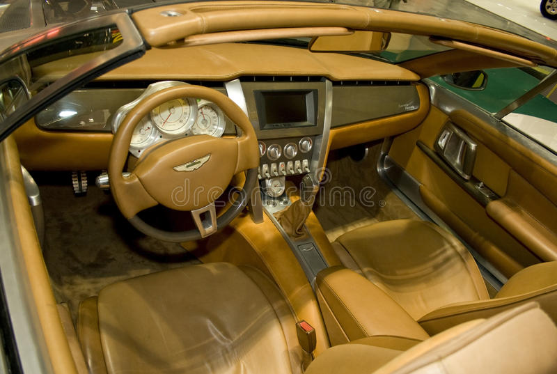 Aston Martin all'interno fotografie stock