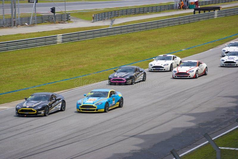 Aston Martin Azië het Ras van de Kop royalty-vrije stock afbeeldingen