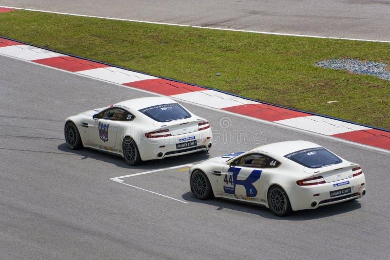 Aston Martin Azië het Ras van de Kop royalty-vrije stock afbeelding