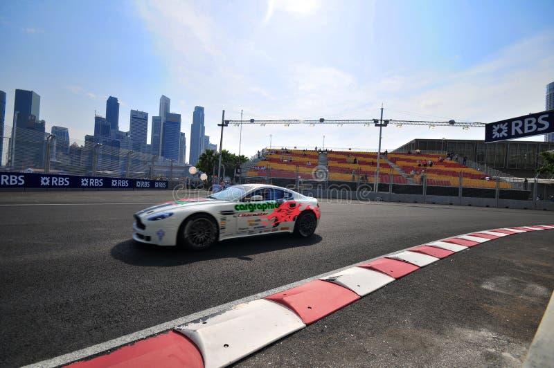 Aston Martin Cup At Singapore Formula One-4 Editorial Stock Image