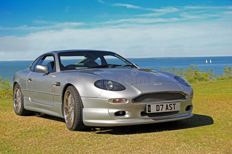Aston Martin dalla costa fotografia stock