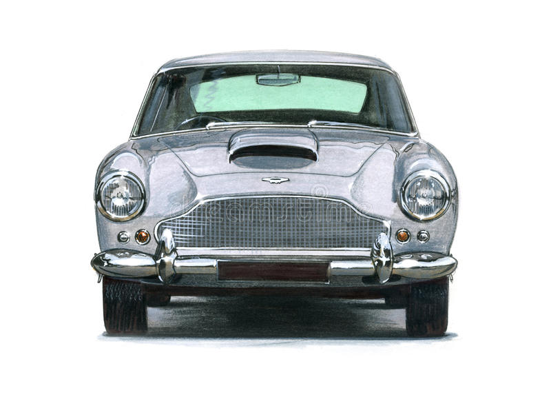 Aston Martin DB4 illustration stock