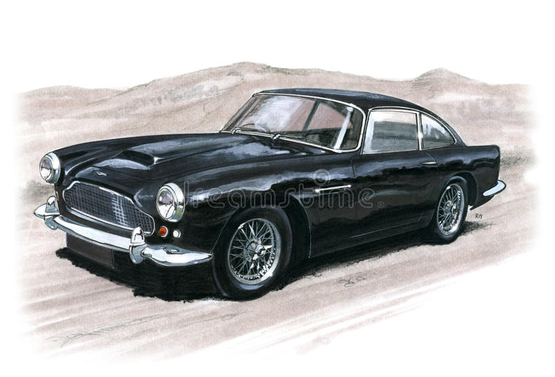 Aston Martin DB4 illustration de vecteur