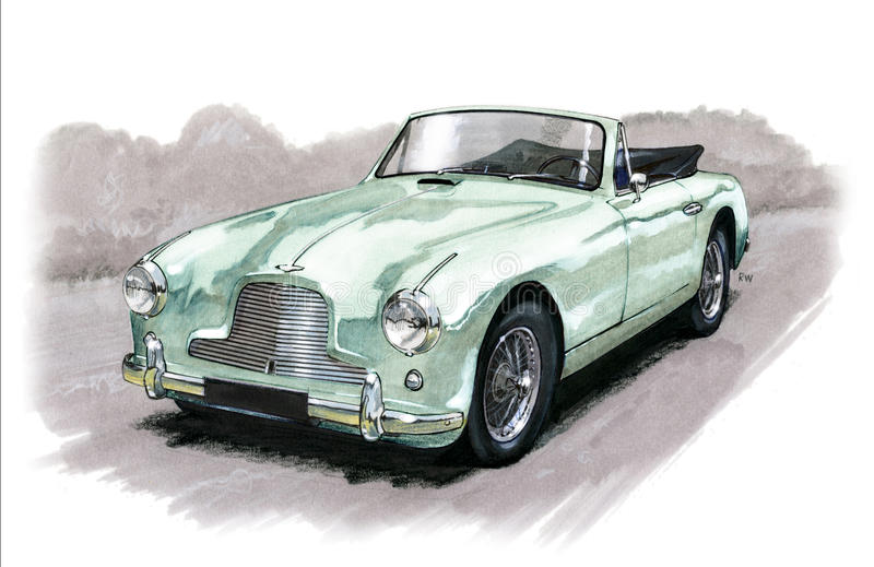 Aston Martin DB2/4 illustration stock