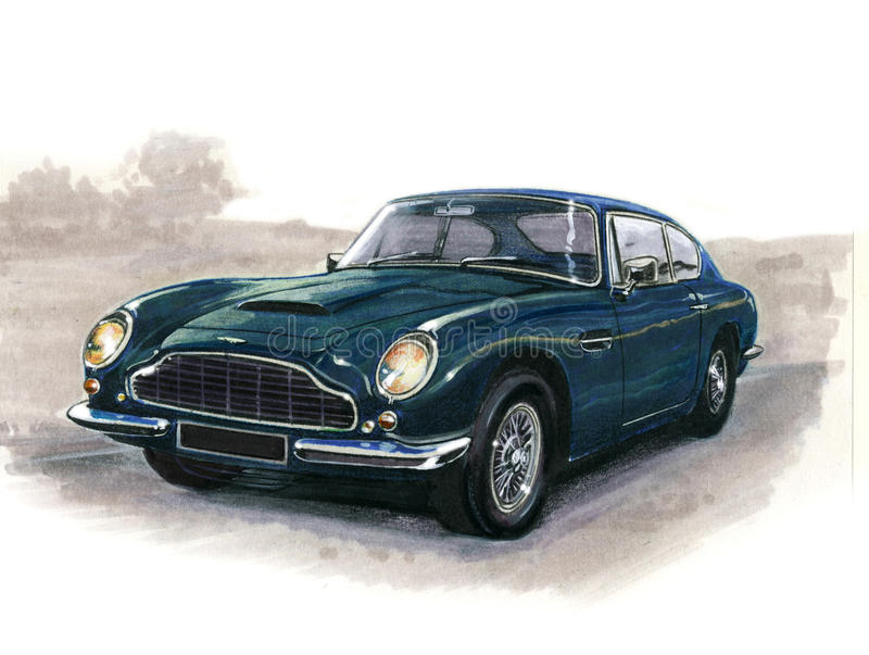Aston Martin DB6 illustration de vecteur
