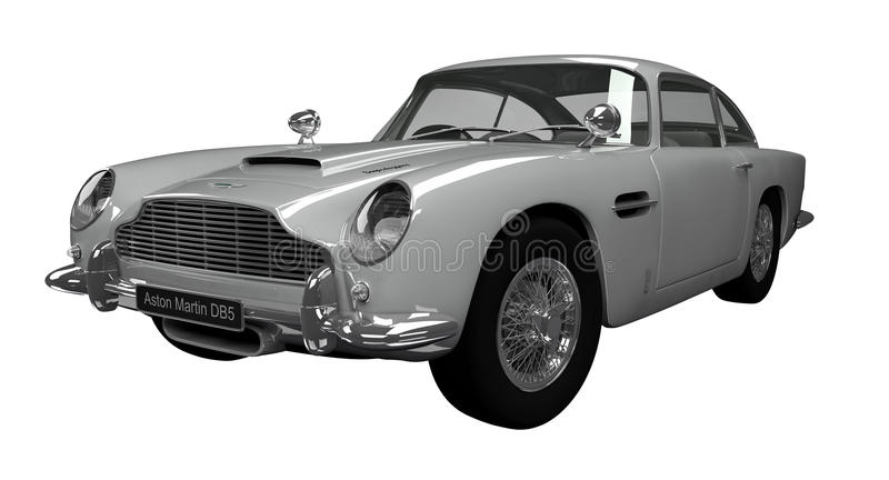 Aston Martin DB5 illustration de vecteur