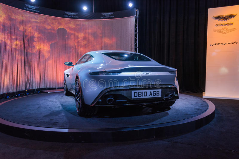 Aston Martin DB10 AGB stock images