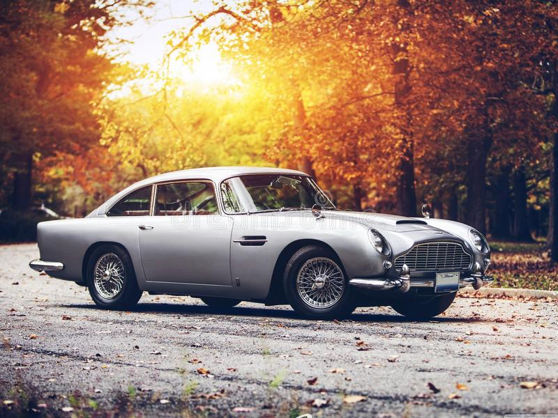 Aston martin DB5 stock image