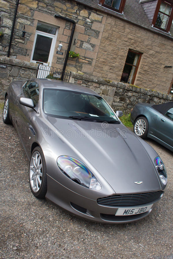 Aston Martin DB9 luxury sports car stock photo