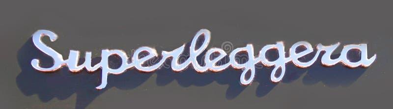 Aston Martin DB6 Superleggera chromu odznaka obrazy stock