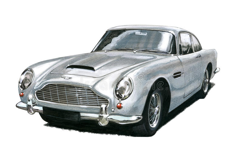Aston Martin DB5 illustration libre de droits
