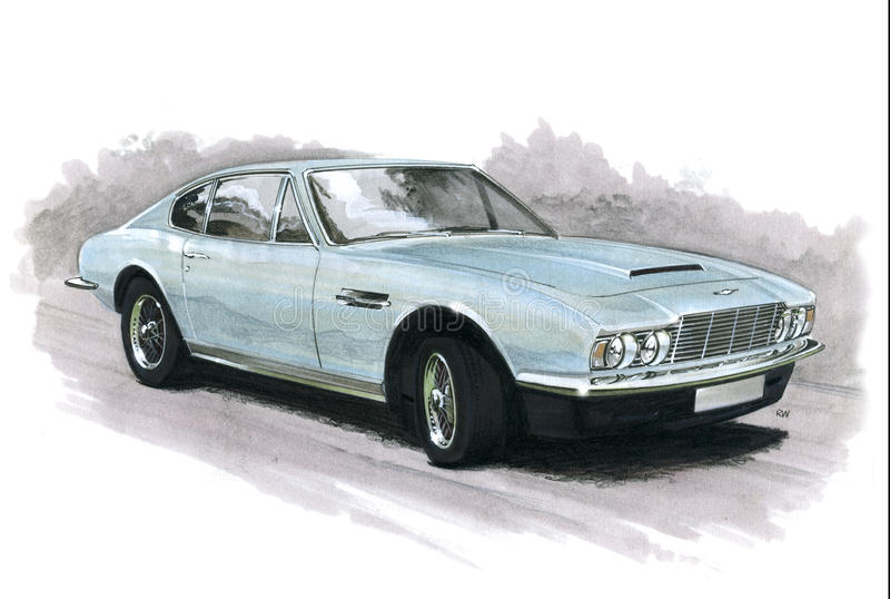 Aston Martin Dbs illustration stock