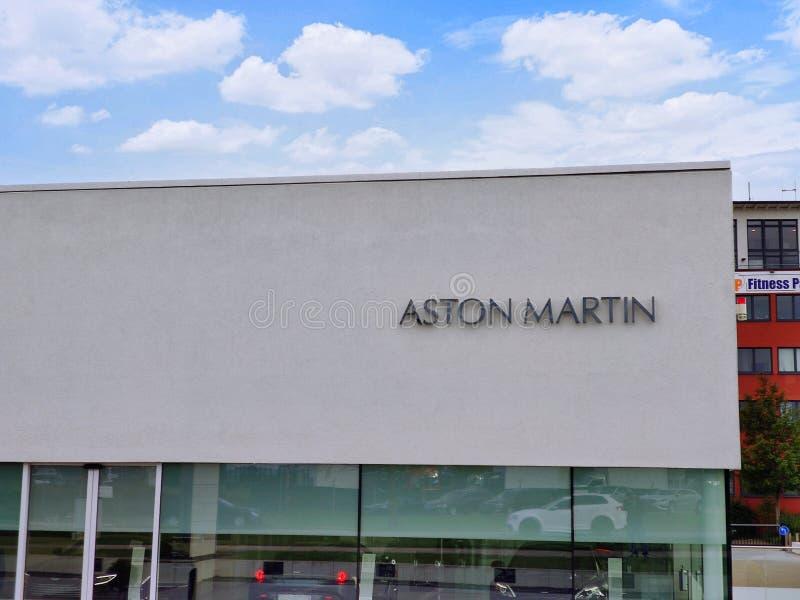 Aston Martin Logo / Marke / Emblem lizenzfreie stockbilder