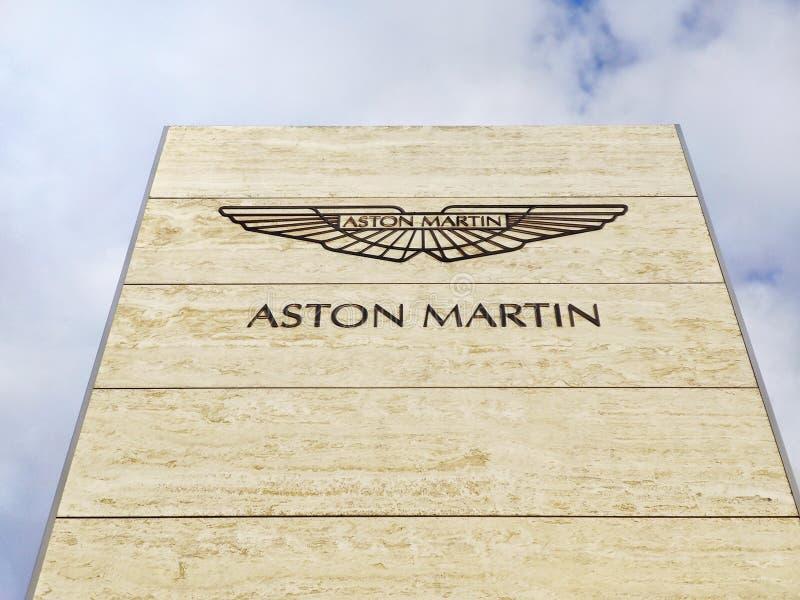Aston Martin Logo / Marke / Emblem lizenzfreies stockfoto
