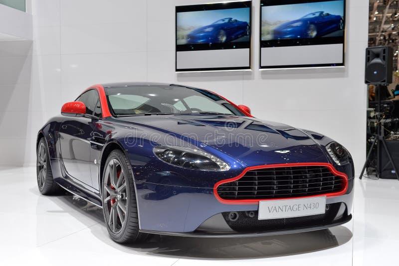 Aston Martin N430 en el salón del automóvil de Ginebra imagen de archivo