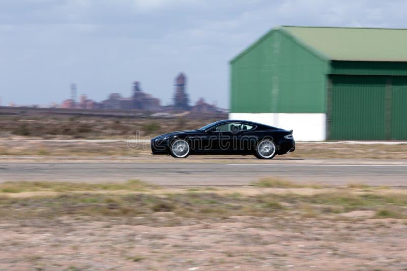Aston Martin preto imagens de stock royalty free