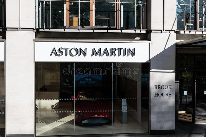 Aston Martin przedstawicielstwo handlowe zdjęcia stock