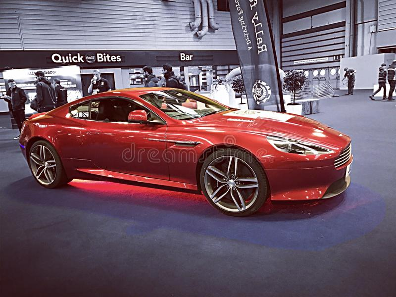 Aston Martin Red royaltyfri bild