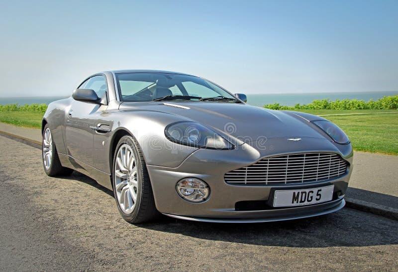 Aston Martin sgomina fotografie stock libere da diritti