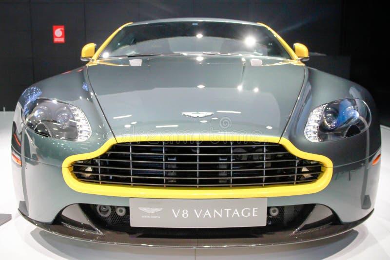 Aston Martin v8 avvantaggioso fotografie stock libere da diritti