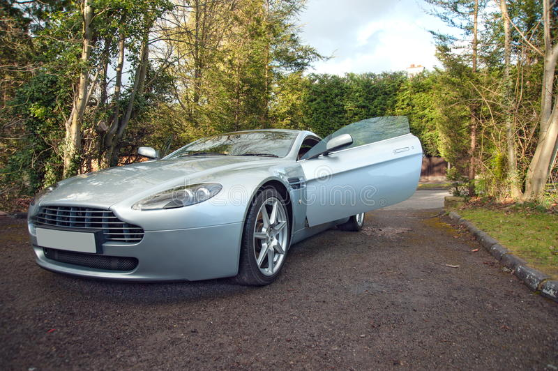 Download An Aston Martin Vantage English Grand Tourer With Door Open Stock Photo - Image of & An Aston Martin Vantage English Grand Tourer With Door Open Stock ...