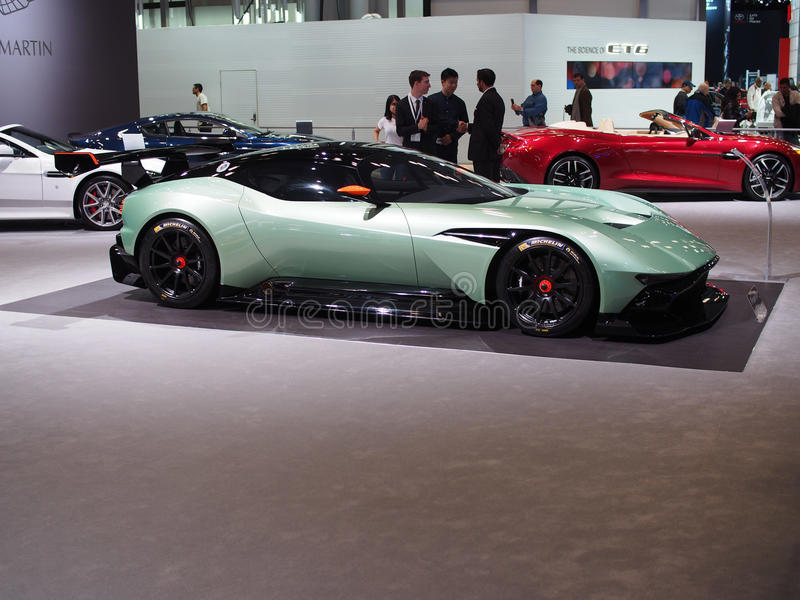2016 Aston Martin Vulcan at car show stock photography