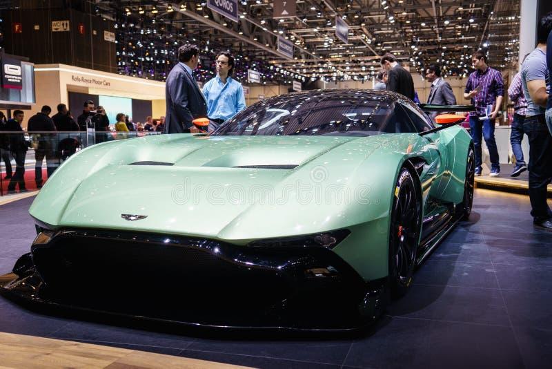 Aston Martin Vulcan, Motorowy przedstawienie Geneve 2015 obrazy stock