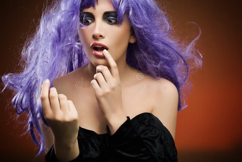 Astonished beauty royalty free stock photography