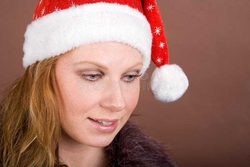 Download Astonished Miss Santa stock image. Image of miss, holiday - 3726765