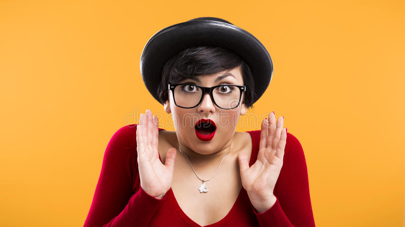 Download Astonished nerd girl stock photo. Image of expression - 29203182