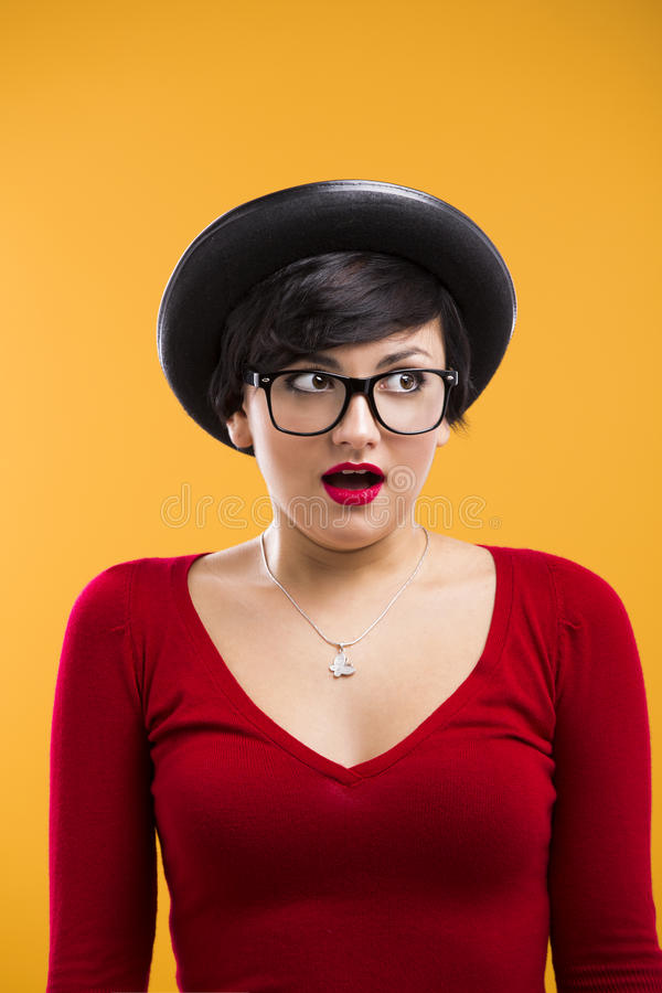 Download Astonished nerd girl stock image. Image of astonished - 29203185