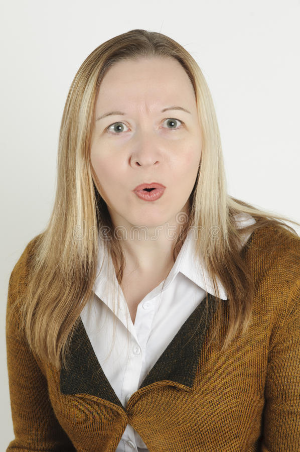 Astonished woman stock image