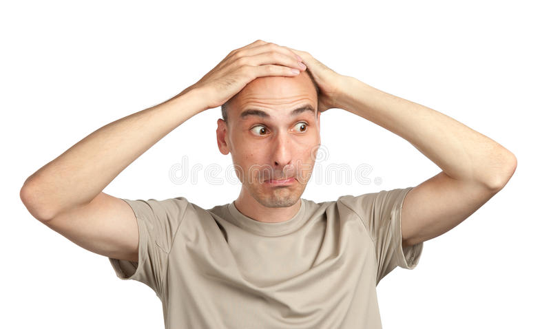 Astonished young man royalty free stock image