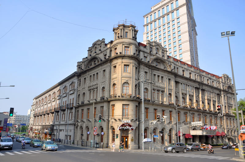 Astor House Hotel, Shanghai, China. Astor House Hotel is a luxurious hotel built in 1846. Astor Hotel was once regarded as the pride of Shanghai, and is now stock photo