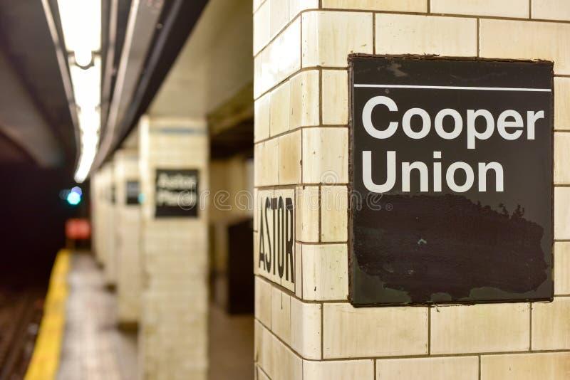 Astor miejsca stacja metru - Miasto Nowy Jork obraz stock