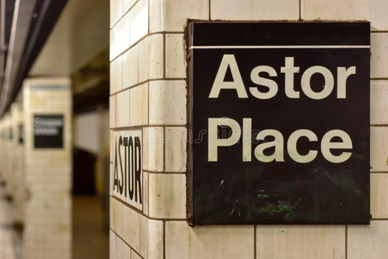 Astor miejsca stacja metru - Miasto Nowy Jork fotografia royalty free