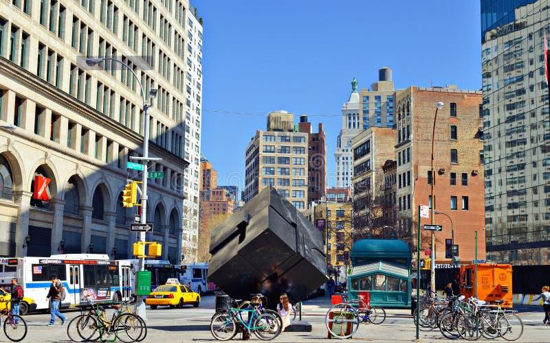Astor Place Manhattan stock images